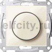 Диммер (светорегулятор) поворотный 60-400 Вт для ламп накаливания и галогенных 220В, пластик кремовый глянцевый