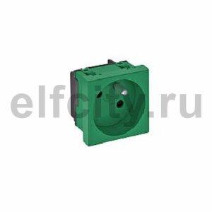Розетка одинарная 33° франц. стандарт, 250 В, 16A (зеленый)