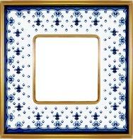 Рамка 1 пост, черная лилия/блестящее золото