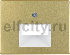 Центральная панель для UAE/E-DAT Design/Telekom розетка ISDN цвет: золотой, металл Berker Arsys