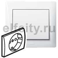 Лицевая панель - Galea Life - для розетки 2К+З - White