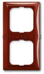 Рамка 2 поста, для горизонтального/вертикального монтажа, красный