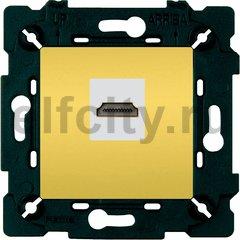 Розетка HDMI, светлое золото/бежевый