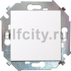 Выключатель одноклавишный, перекресный (вкл/выкл 3-х мест), 10 A / 250 B, белый