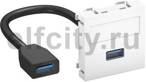 Мультимедийная рамка USB 3.0 A-A Modul45 (белый)