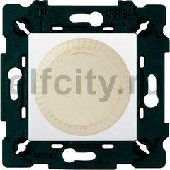 Диммер (светорегулятор) поворотный 40-500 Вт для ламп накаливания и галогенных 220В, white decape/белый