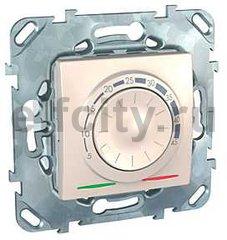 Термостат механический, с выносным датчиком для электрического подогрева пола 230 В~ 8А, пластик кремовый глянцевый