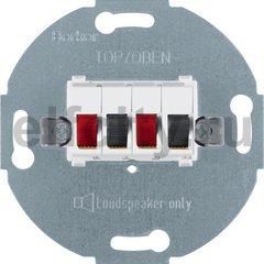 Розетка для стерео-громкоговорителя цвет: полярная белизна Модульные механизмы