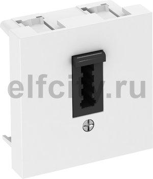Телефонная розетка стандарта ТАЕ 45x45 мм (белый)