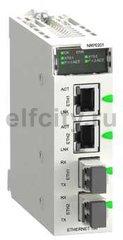 Оптоволоконный повторитель RIO в шасси Modicon X80
