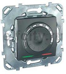 Термостат механический, с выносным датчиком для электрического подогрева пола 230 В~ 8А, пластик графит