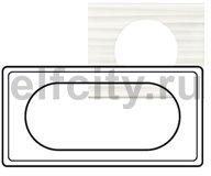 Рамка - Программа Celiane - 4/5 модулей - Corian Белый Рельеф