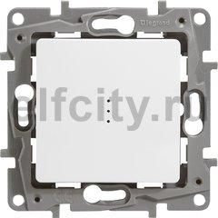 Выключатель одноклавишный с подсветкой, проходной (вкл/выкл с 2-х мест) 10 А / 250 В, белый