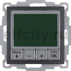 Термостат електронный программируемый, с выносным датчиком, для электрического подогрева пола 230 В~ 8А, пластик антрацит