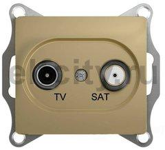 Розетка телевизионная оконечная TV/SAT , диапазон 1 DB, титан