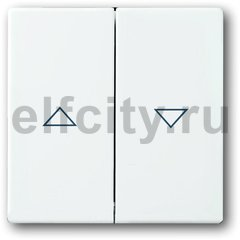 Клавиша для механизма выключателя жалюзи 2000/4 U и 2020/4 US, с маркировкой, серия solo/future, цвет davos/альпийский белый