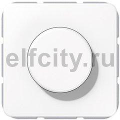 Диммер (светорегулятор) поворотный 100-1000 Вт для ламп накаливания и галогенных 220B, белый