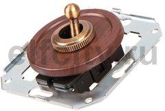 Выключатель тумблерный 2-х позиционный для внутреннего монтажа проходной, вишня