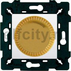 Диммер (светорегулятор) поворотный 40-500 Вт для ламп накаливания и галогенных 220В, красное золото/белый