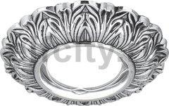 Точечный светильник Antique Round, серебро/черный