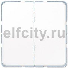 Выключатель двухклавишный, проходной (вкл/выкл с 2-х мест) 10 А / 250 В, белый