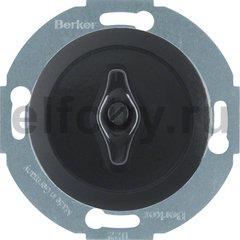 Выключатель, поворотный, универсальный (вкл/выкл с 1-го и 2-х мест), 10 А / 250 В, фарфор черный