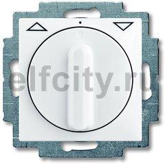 Выключатель управления жалюзи, поворотный с фиксацией,10 А / 250 В, альпийский белый