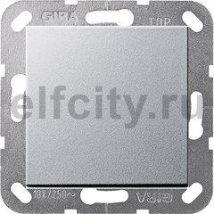 Выключатель одноклавишный, универс. (вкл/выкл с 2-х мест) 10 А / 250 В, пластик под алюминий