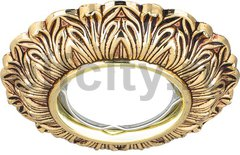 Точечный светильник Antique Round, золото/черный