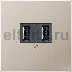 Зарядное USB устройство на два выхода , 2х750 мА / 1х1500 мА, нержавеющая сталь