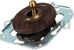 Выключатель тумблерный 2-х позиционный для внутреннего монтажа проходной, венге