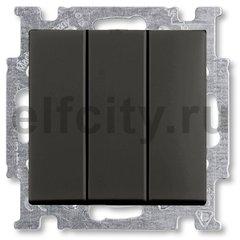 Выключатель трехклавишный 10 А / 250 В, шато-черный