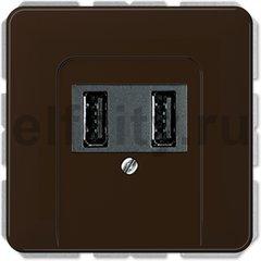 Зарядное USB устройство на два выхода , 2х750 мА / 1х1500 мА, коричневый