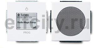 Интернет-радиоприемник скрытого монтажа с RDS с двумя динамиками, возможность управления со смартфона, пластик белый глянцевый
