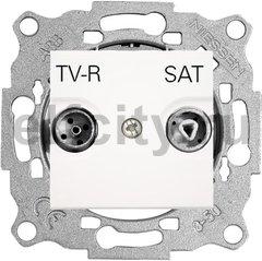 Розетка телевизионная одиночная TV-FM/SAT, диапазон частот от 47 до 2150 Mгц, белый