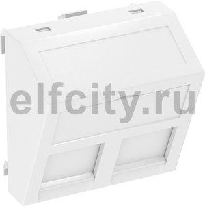Корпус компьютерной розетки Modul45 тип A (наклонный) 45x45 мм (белый)