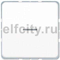 Выключатель одноклавишный с подсветкой, универс. (вкл/выкл с 2-х мест) 10 А / 250 В, белый