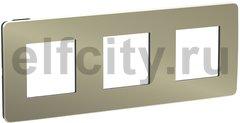Рамка 3 поста, для горизонтального/вертикального монтажа, бронза/антрацит