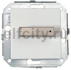 Выключатель поворотный для управления жалюзи, 10 А / 250 В, сталь / белый