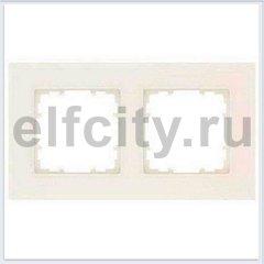 DELTA MIRO РАМКА 2-ПОСТ. РАЗМЕРЫ 90X90 MM ЭЛЕКТРОБЕЛЫЙ