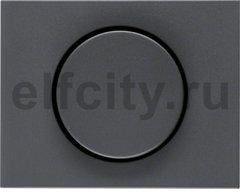 Центральная панель с регулирующей кнопкой для поворотного диммера цвет: антрацитовый, матовый Berker K.1