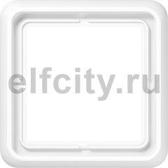 Рамка 1 пост, пластик ударопрочный, белый
