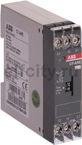 Реле времени CT-ARE (задержка на отключ. без вспом.напряж.) 24B AC/ВС, 220-240В AC (временной диапазон 0,3..30с.) 1ПК