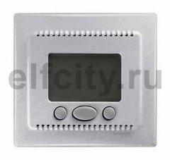 Термостат електронный, с выносным датчиком для электрического подогрева пола 230 В~ 8А, алюминий