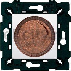 Диммер (светорегулятор) поворотный 40-500 Вт для ламп накаливания и галогенных 220В, состаренная медь/белый