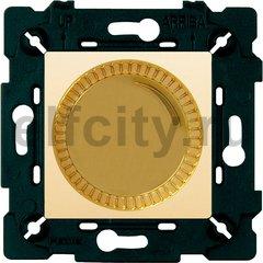 Диммер (светорегулятор) поворотный 40-500 Вт для ламп накаливания и галогенных 220В, светлое золото/бежевый