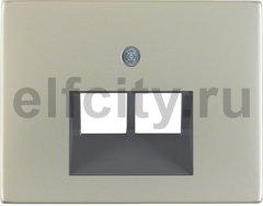 Центральная панель для UAE/E-DAT Design/Telekom розетка ISDN цвет: нержавеющая сталь Berker K.5