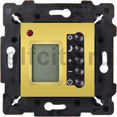 Термостат для электрического подогрева пола 230 В~ 16А , с датчиком температуры воздуха и пола, светлое золото/черный