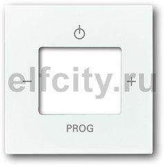 Плата центральная (накладка) для механизма цифрого FM-радио 8215 U, серия Basic 55, цвет альпийский белый