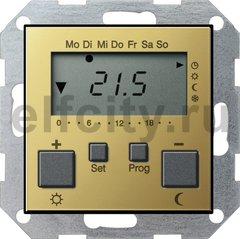 Термостат для электрического подогрева пола 230 В~ 8А , с таймером, функцией охлаждения и выносным датчиком, латунь